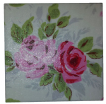 Ceramic Wall Tiles Made With Cath Kidston Rose in White